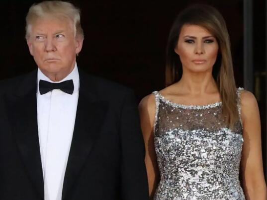 特朗普与妻子梅拉尼娅(图源:《每日电讯报》)