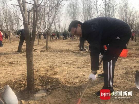 生态环境部副部长赵英民参加义务植树