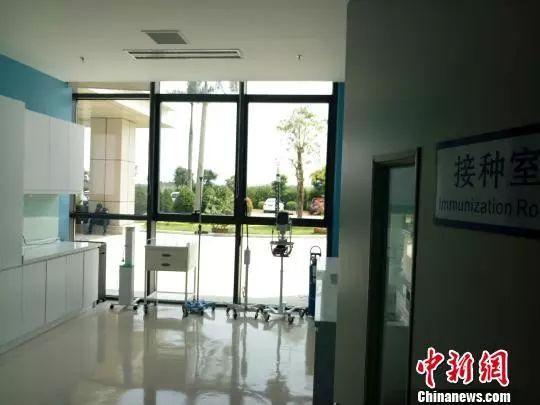资料图疫苗中心接种室。 尹海明 摄