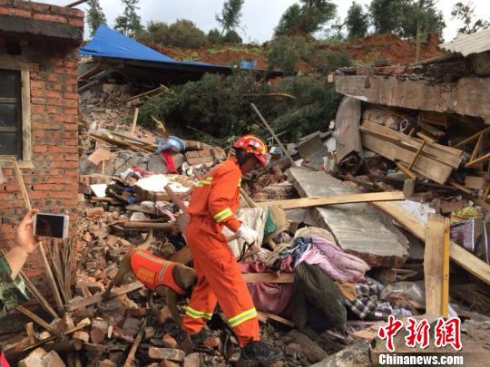 云南宣威山体滑坡一名失踪者确认遇难