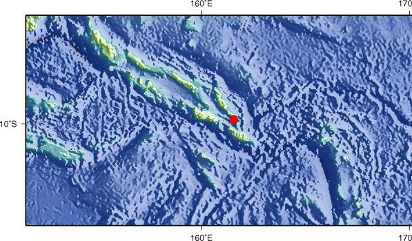 9月10日3时31分所罗门群岛发生6.5级地震