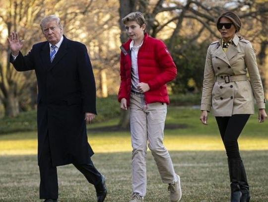"""美总统弹劾听证会提及特朗普小儿子,第一夫人炮轰""""不该把小孩卷入政治"""""""