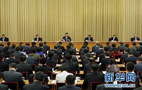 2016年4月22日至23日,全国宗教工作会议在北京举行。中共中央总书记、国家主席、中央军委主席习近平发表重要讲话。新华社记者 庞兴雷 摄