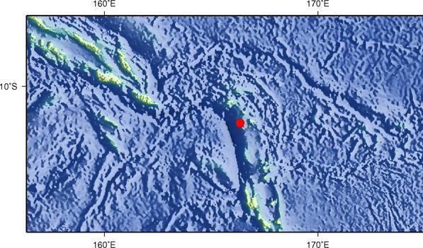 7月17日15时2分圣克鲁斯群岛发生6.0级地震