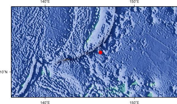 9月23日13时52分马里亚纳群岛以南发生6.0级地震