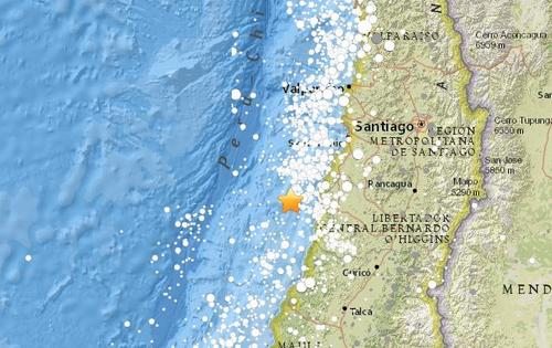 智利近海海域发生5.1级地震 震源深度19.4公里