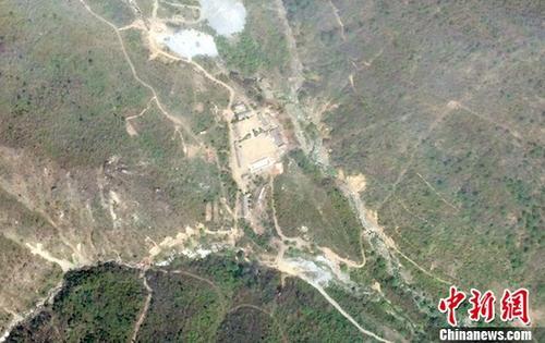资料图:当地时间2018年5月14日,卫星拍摄的朝鲜丰溪里核试验场。
