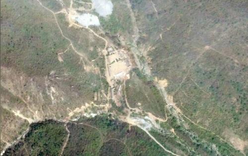 资料图:当地时间2018年5月14日,卫星拍摄的朝鲜丰溪里核试验场