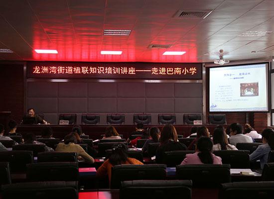 巴南区龙洲湾街道开展楹联培训讲座 弘扬中国传统文化