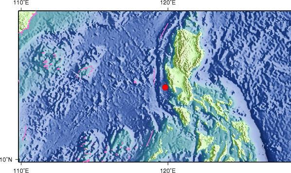6月17日17时46分菲律宾群岛地区发生5.0级地震