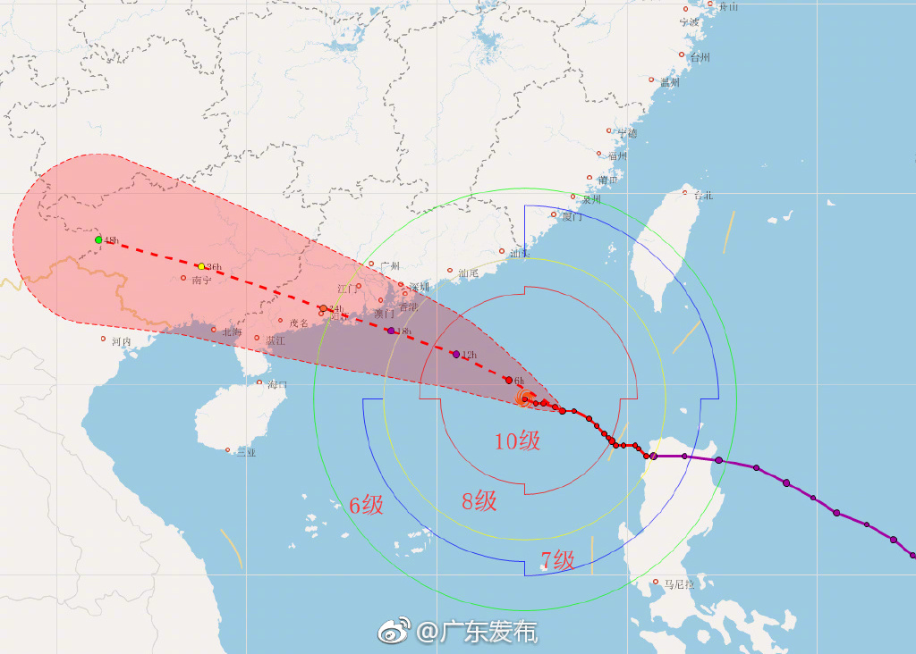 广东发史上最大规模台风预警 珠三角全线红色预警
