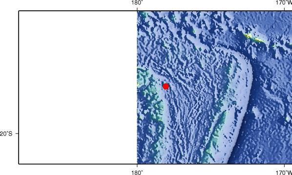 8月19日12时28分斐济群岛地区发生6.8级地震