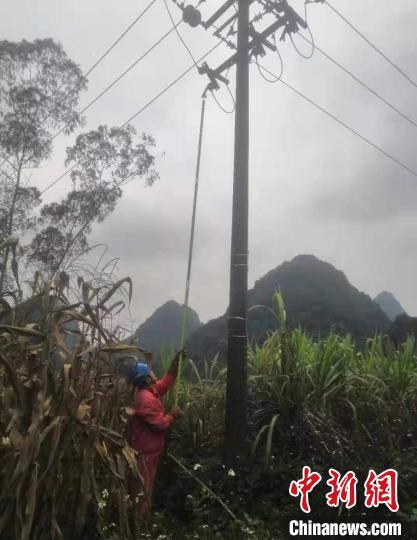 受广西地震影响千余停电用户恢复