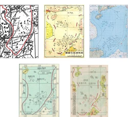 图2.1951年及以前的历史中国南海诸岛分布图