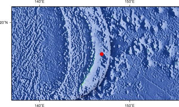 8月29日6时35分马里亚纳群岛发生6.3级地震