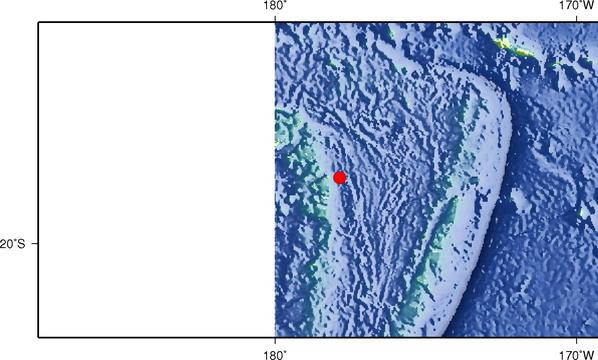 9月7日13时10分斐济群岛地区发生5.6级地震