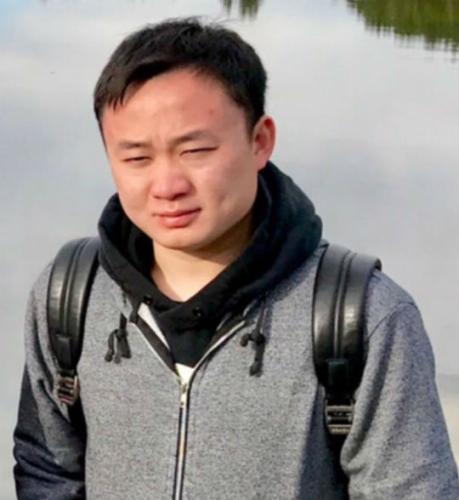 遭绑架后失踪的中国公民廖若辰。(图片来源:美国侨报记者 邱晨 摄)