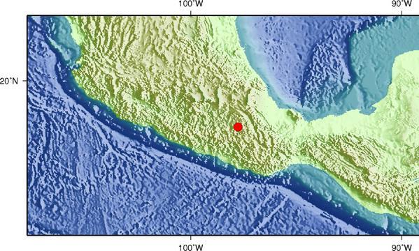 7月19日21时31分墨西哥发生5.5级地震