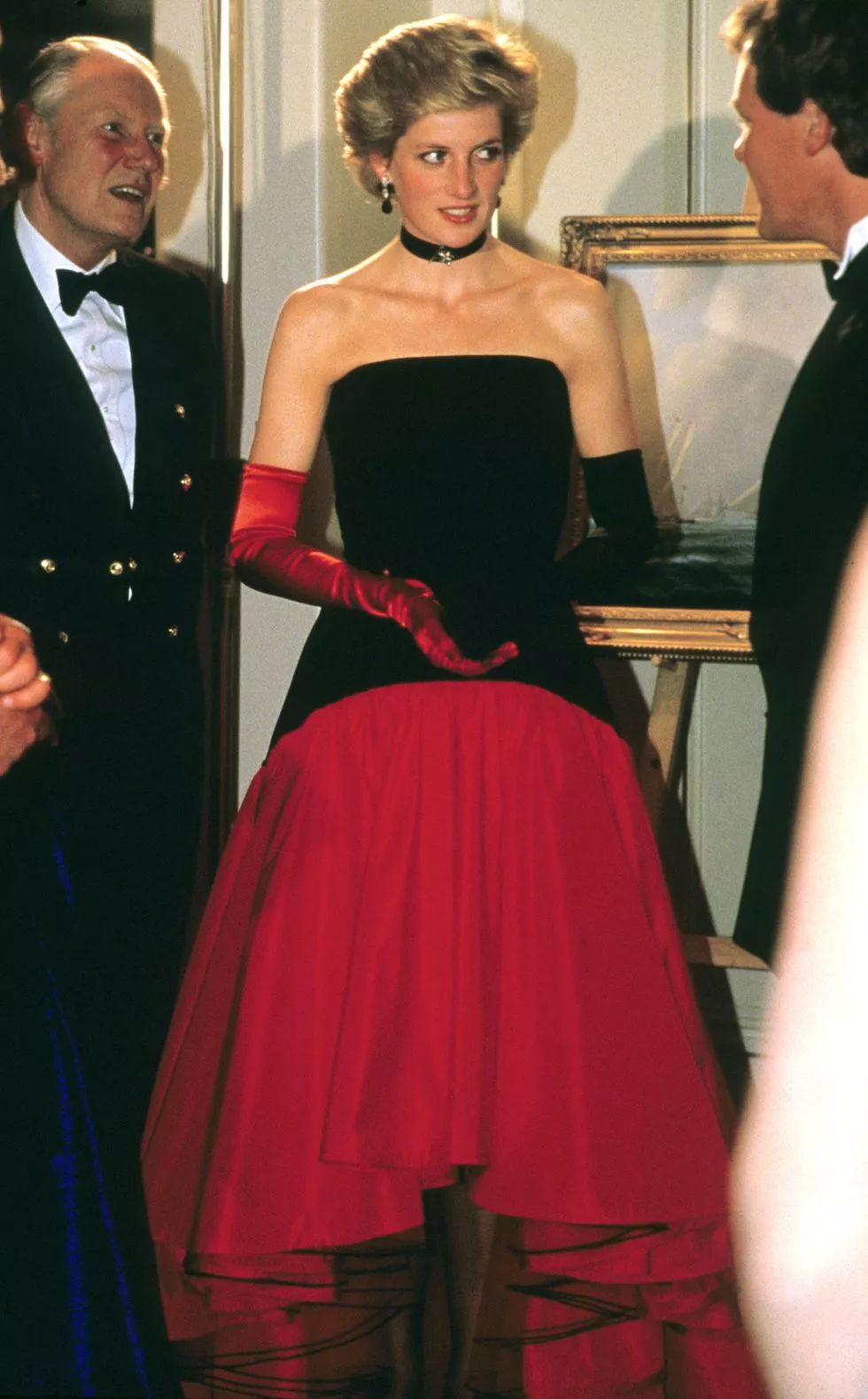 Diana attended the America's Cup Ball at the Grosvenor House hotel in London in September 1986