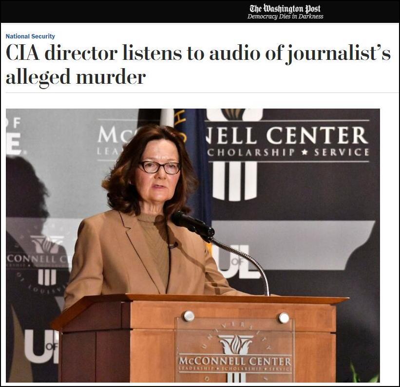 美媒称CIA局长哈斯佩尔已经听过录音可能回国对国会报告