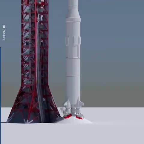 利用大象展示土星5号火箭运送阿波罗11号飞船时燃烧燃料的重量