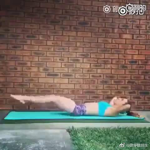 懒人高强度瘦小腹+ 瘦腿运动