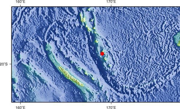 7月13日17时46分瓦努阿图群岛发生6.3级地震