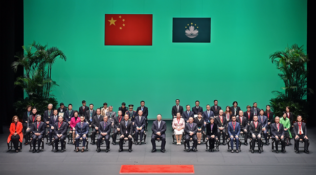 张荣顺、姚坚、孙达、薛晓峰出席澳门特区2018年度勋章、奖章和奖状颁授典礼