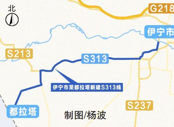新疆新建S313线察县段公路正式通车