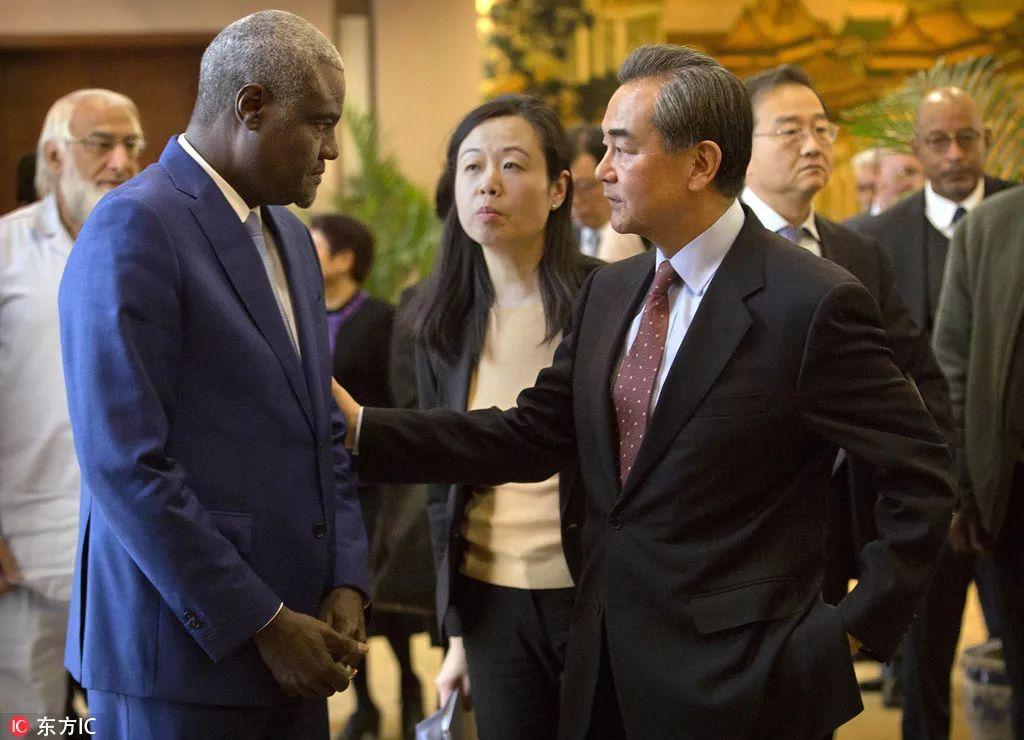 2月8日,王毅外长同来华访问的非盟委员会主席法基参加中国――非盟战略对话会 @东方IC