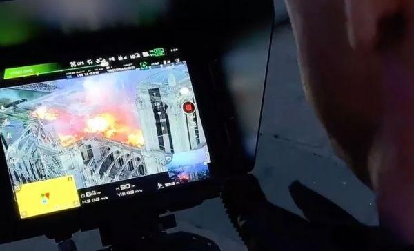 ▲无人机在巴黎圣母院火灾扑救过程中起到了关键作用。