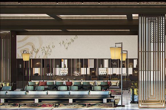 对望广州塔的地标酒店,卓美亚登陆花城