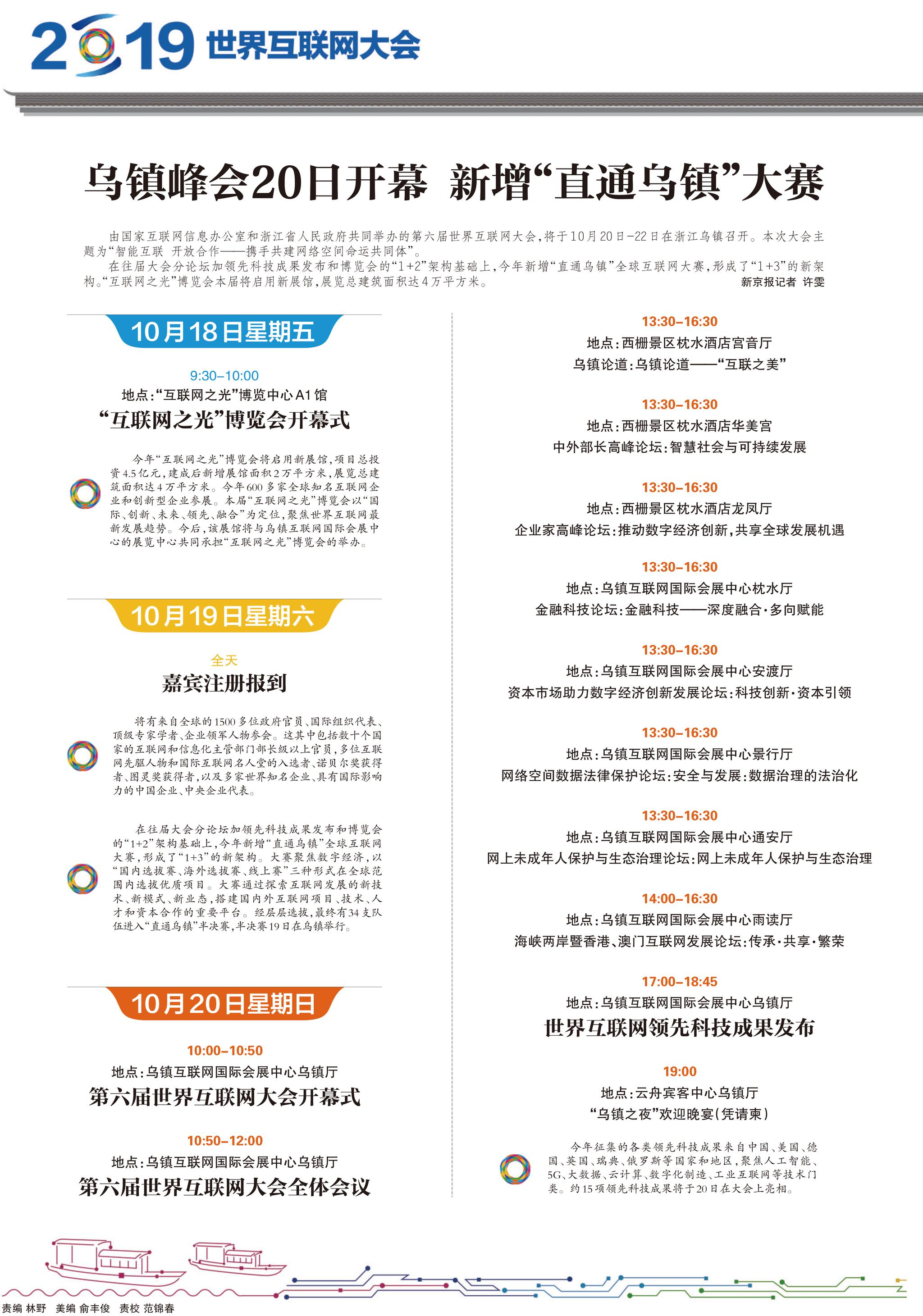 """乌镇峰会20日开幕 新增""""直通乌"""