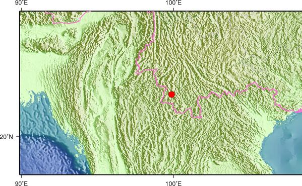 6月16日3时30分云南普洱市澜沧县发生3.0级地震