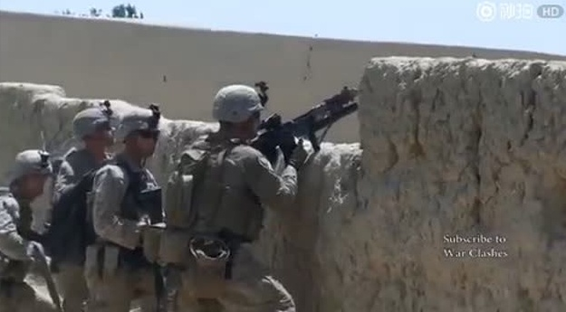美国海军陆战队在阿富汗战争中的真实战斗视频实录