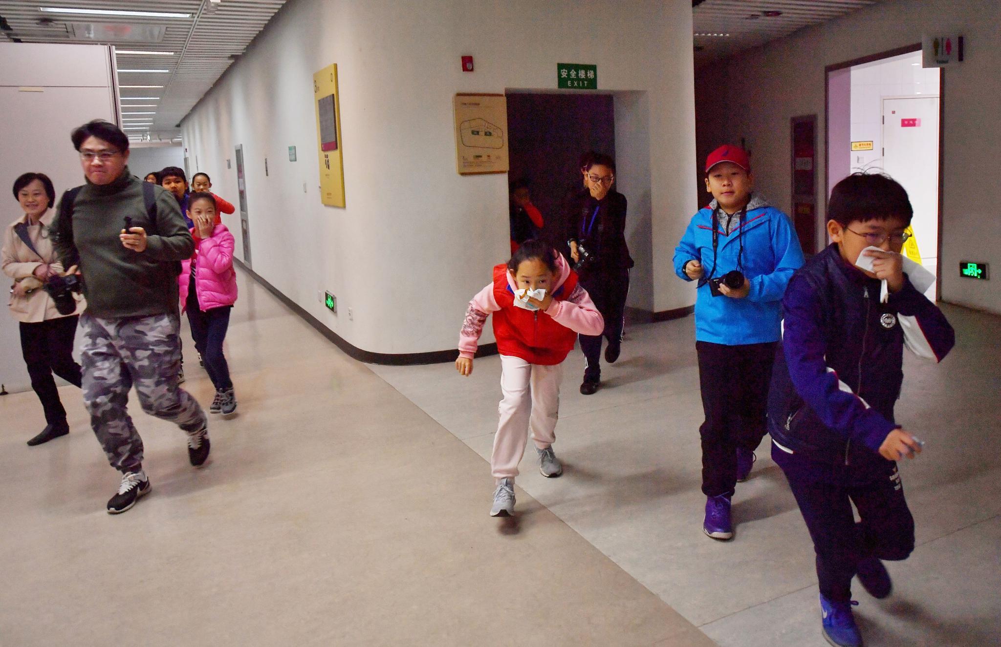 第27个全国消防日 北京900名师生参与消防疏散演练