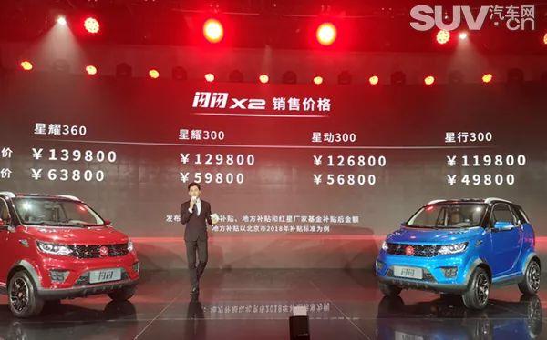红星X2正式上市 补贴后售价4.98-6.38万元
