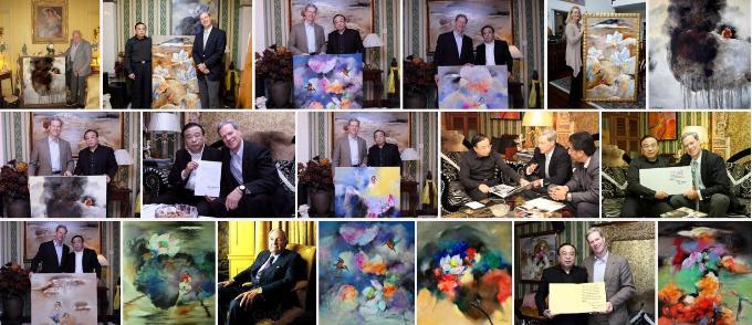 30幅被洛克菲勒家族收藏,黄月彩墨艺术要回国展出了!