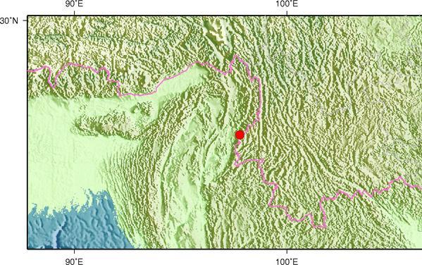 6月29日22时51分缅甸发生3.5级地震