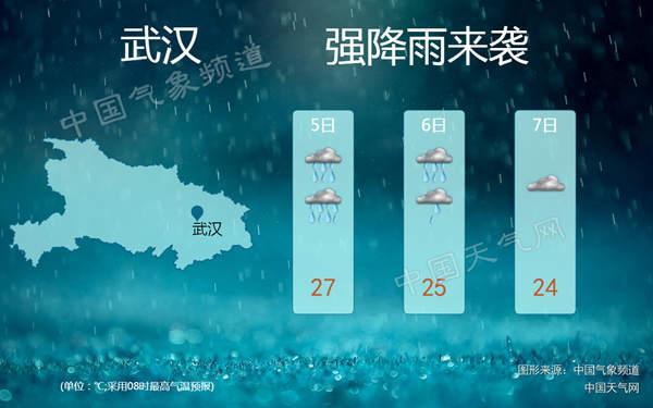 湖北遭今年以来范围最广强降雨 武汉等地有暴雨