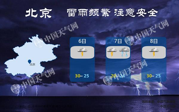 北京今夜中到大雨来袭 明晨降雨袭扰早高峰