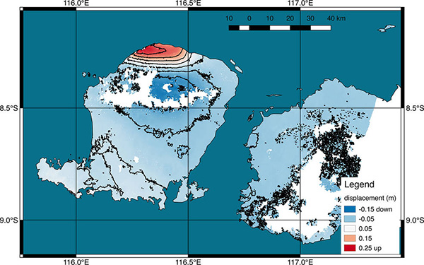NASA:印尼龙目岛连续地震导致西北海岸抬高25厘米