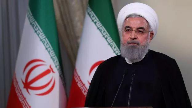 ▲伊朗总统鲁哈尼近日发表电视讲话说,伊朗将重新开始铀浓缩项目。(法新社)