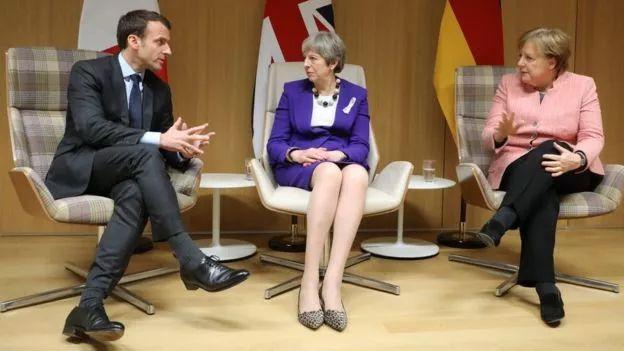 ▲法国、英国、德国领导人纷纷宣布,他们将继续恪守核协议承诺。(盖帝图像)