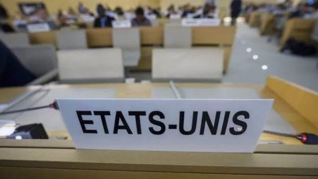 ▲美国在人权理事会的座位已经空置。