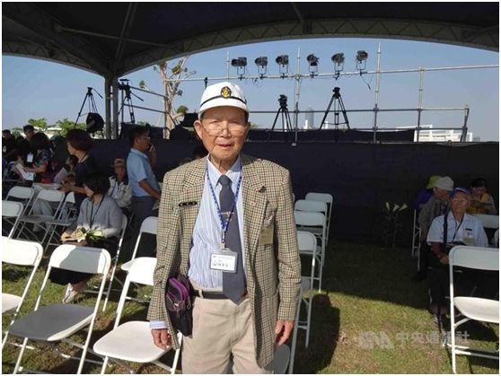 92岁的林余坐。滥觞:台湾中心通信社