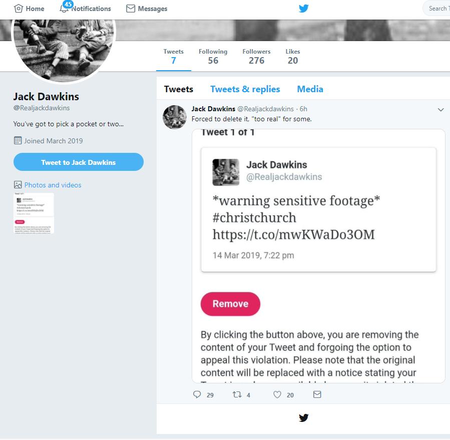 Jack Dawkins推特最新截图