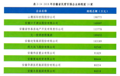 安徽民营企业纳税百强企业揭晓,科大讯飞排名第六