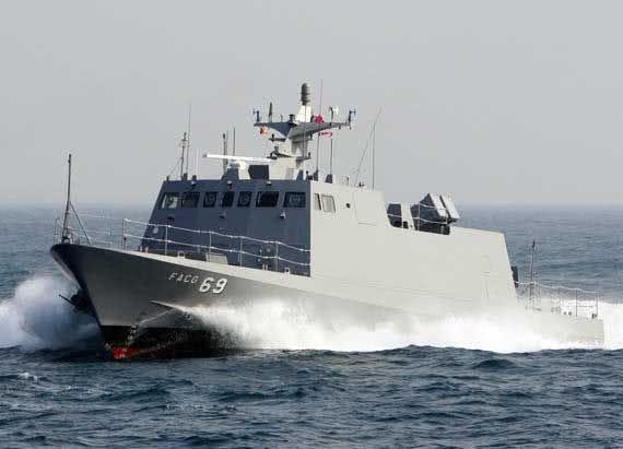"""資料圖片:臺軍""""光華六號""""導彈艇。"""