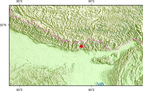 印度发生3.8级地震 震源深度8千米
